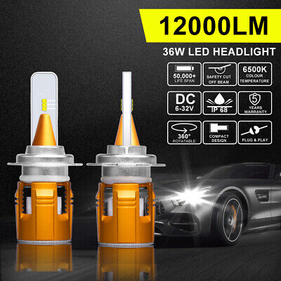 Autofeel H7 LED Headlight Bulb Conversion Kit Low Beam High Power White 6000K 2x