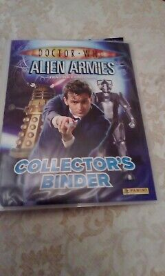dr who alien armies collectors binder +25 trading cards
