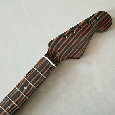 22 frets Zebra wood electric guitar neck for Strat style Electric Guitar part
