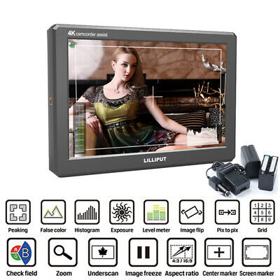 "Lilliput A8S 8.9"" IPS Full HD 1920x1200 4K HDMI 3G-SDI Camera Monitor w/ Battery"