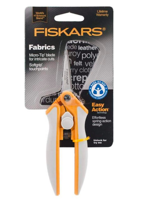 Fiskars Fabrics Easy Action Micro-Tip Scissors 5 Inch Softgrip New & Sealed