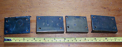 Vintage job lot reclaimed brass furniture locks two different sizes Leverlock