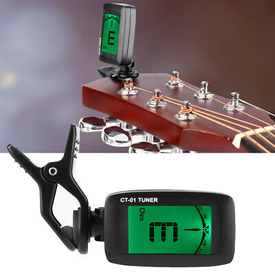 Portable Clip On 360 Degree Rotary Digital Tuner A0-C8 For Guitar Bass Ukulele