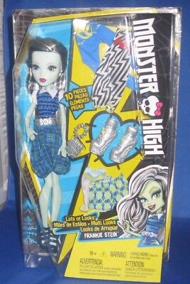 Monster High Lots Of Looks Frankie Stein Collector Doll & Extra Fashions Nrfb