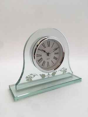 M&S Decorative Glass Mantel clock