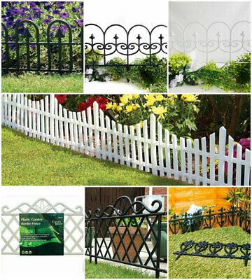 Stylish Flexible Garden Lawn Edging Grass Borders Picket Plastic Path Fence