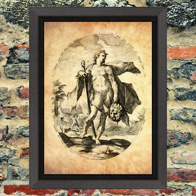 Ancient Art Weird Print Oddity Occult Antique Effect Historic Curio Demon map