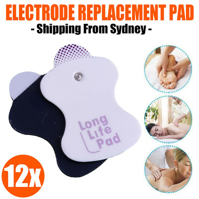 12* Electrode Replacement Tens Pads for Omron Elepuls Long Life Massagers Pad