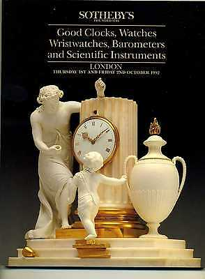 Clocks Watches Barometers Scientific Instruments Sotheby's Auction Catalogue