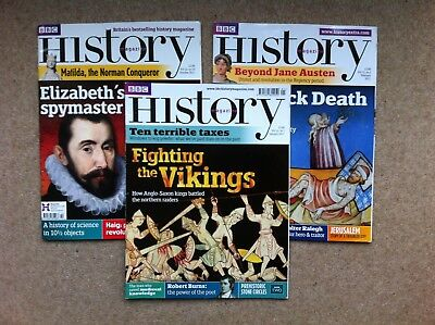 BBC History Magazines (Back Issues x3) Jan,Feb,Oct 2011 - Very Good Condition