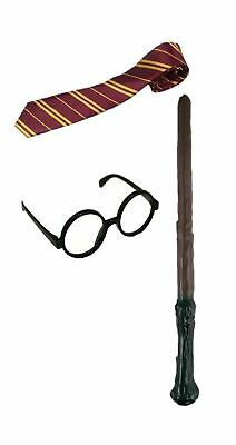 Harry Potter Cravate lunettes baguette deguisement costume enfant set wizard FR