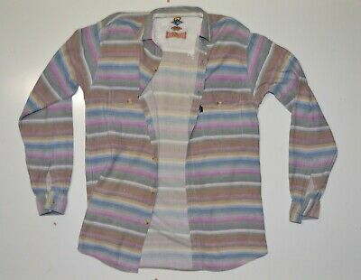 Vintage 80s 90s Rip Curl Mens Surf Button Up Shirt Size S Check Grunge Hipster