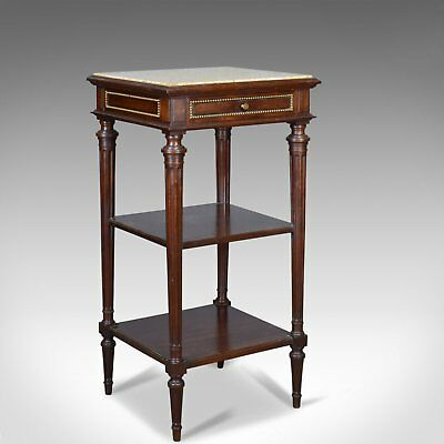 Antique French Bedside Table, Louis XVI Taste, Constantin Potheau Circa 1910