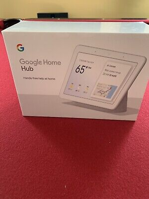 """Sealed New Google Home Hub with Google Assistant Smart 7"""" Display - Chalk"""