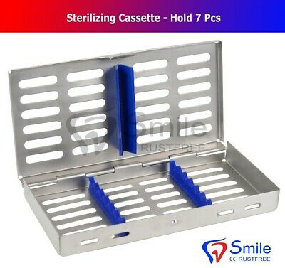 7 Instruments Dental Surgical Sterilization Autoclave Cassette Tray Stainless CE
