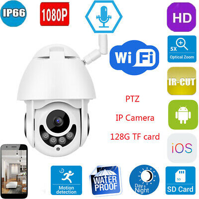 1080P PTZ IP Camera 5X Optical Zoom Wireless WIFI Outdoor CCTV Camera Waterproof