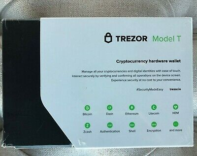 Brand New Sealed Trezor Model T (bitcoin cryptocurrency hardware wallet)