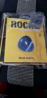 National Geographic Precious Rocks Gems Minerals BLUE AGATE issue 5