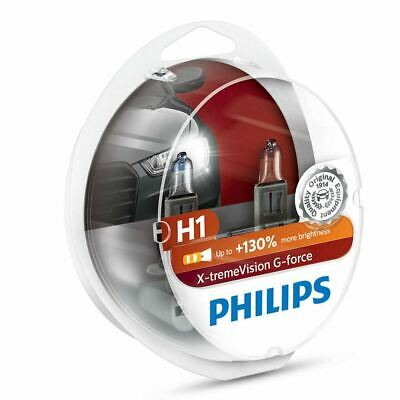 PHILIPS H1 X-tremeVision G-fore 12V 55W P14,5s Car Headlight Bulbs Twin Pack