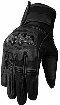 Bikers Gear Australia Vega Short Sports Leather Motorcycle Gloves, Black, XL