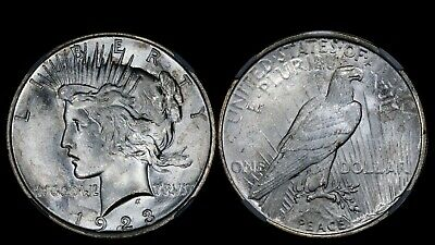 1923 $1 Peace Silver Dollar NGC MS64 Gem Choice BU UNC Luster Bomb! PQ