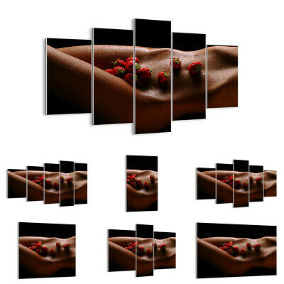 GLASS PRINTS Picture WALL ART Nude Fruits Woman - 30 SHAPES - UK 2533