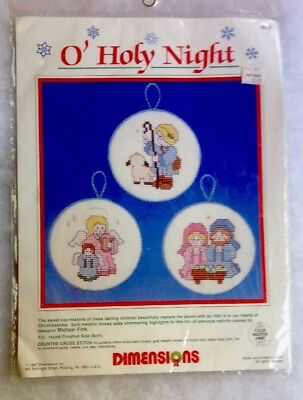 Dimensions Gold Counted Cross Stitch Kit D70-08838 Christmas Stocking Holy Night