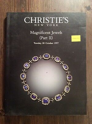 Christie's new york Collectible auction book Magnificent jewels Oct 28 1997