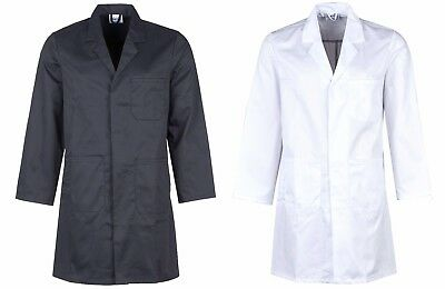 Unisex Lab Workwear Smart Warehouse Coat Smart Casual 3/4 Long Jacket
