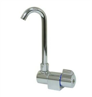 Scandvik 10182P White Powder Coat Folding Cold Water Tap With High Reach Swivel