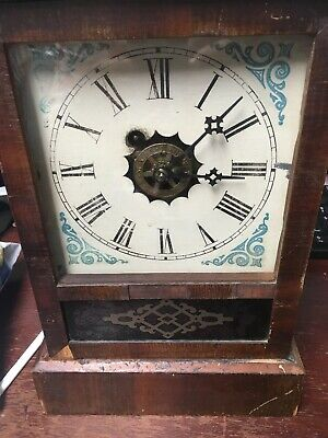 Waterbury Clock Company Antique Clock Working 19th Century