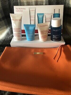 Clarins The Hydrating Collection Beauty Skin Gift Set Plus Beauty Bag - New