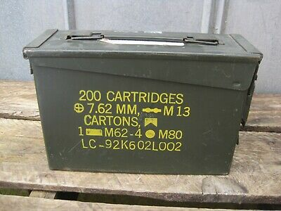 1 US Military Issued 30 cal M19a1 Ammo Can Box 7.62mm Caliber SurplusB0184