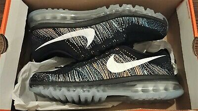 premium selection 4da64 76eda New Nike Flyknit Air Max Running Shoes Black   White   Multi Color Mens US  12.5
