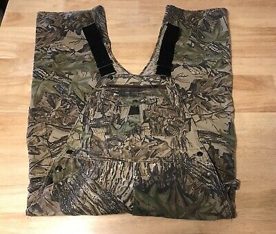 8d2b543a18d8f Liberty Camo Bib Overalls Realtree Hunting Fishing Cargo Pants Mens sz 32 x  26