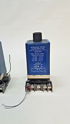 Automatic Timing & Controls 319 dc Time Delay Relay 5A  24VDC w/Socket 15 minute