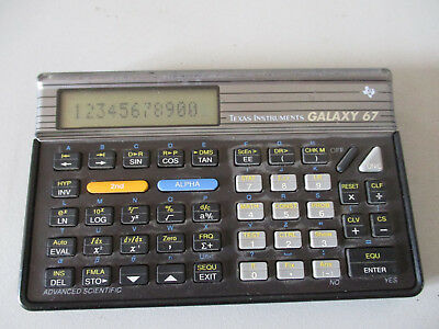 Caculatrice Texas Instruments Galaxy 67 Calculator
