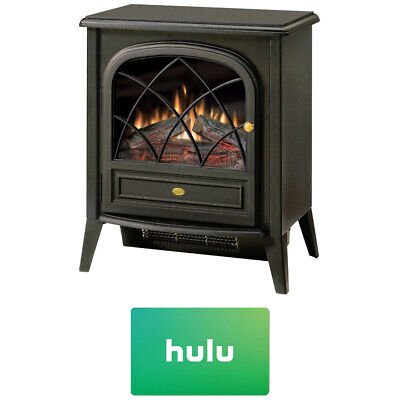 Dimplex Electric Stove-Style Fireplace w/ Hulu $25 Gift Card - CS33116A