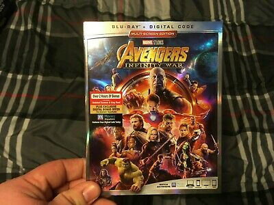 Avengers Infinity War (Blu-ray+Digital) W/ slipcover. New sealed !