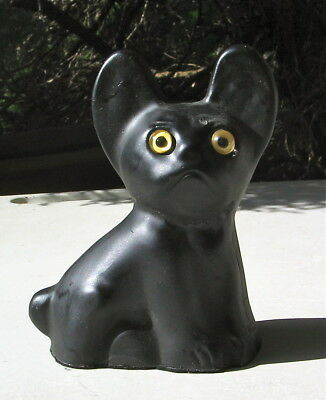 French Bulldog Sittin G Statue Glass Eyes