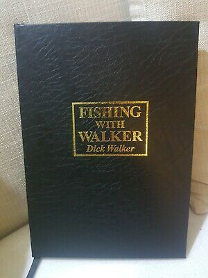 SIGNED x 2 Leatherbound  -DICK WALKER  Carp  Redmire Pool  Fishing Book