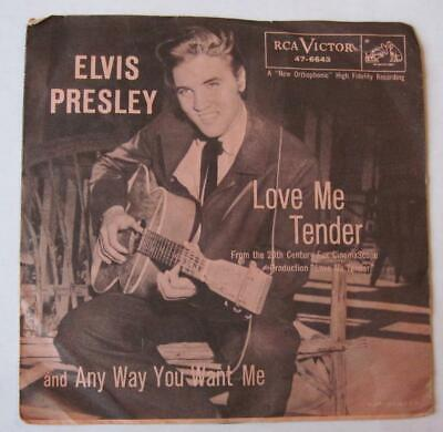 Elvis Presley - Love Me Tender / Any Way You Want Me - 45 + Picture Sleeve