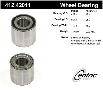 Premium Bearing fits 2012-2015 Nissan March,Versa Note Tiida  CENTRIC PARTS