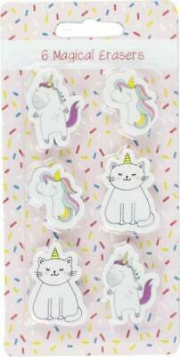Gomme Licorne - 6 Magical Erasers