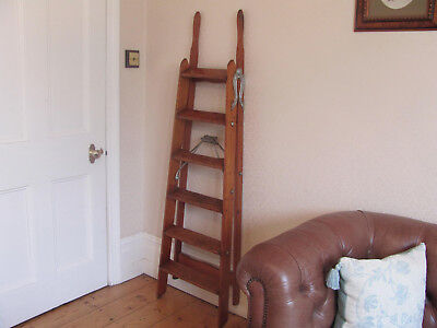 "Antique 19th C. Victorian ADVERTISING Housekeeper's STEP LADDERS - ""Simplex"""