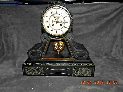 stunning marble/slate case clock jàpys movement