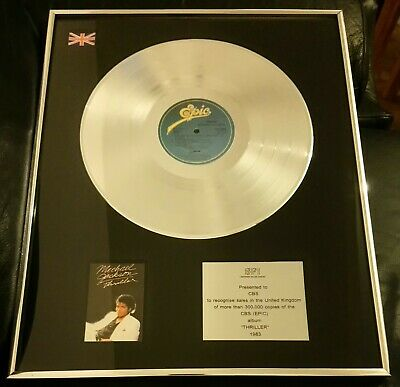 Authentic B.P.I. Sales Award MICHAEL JACKSON THRILLER 1983  Presented to CBS
