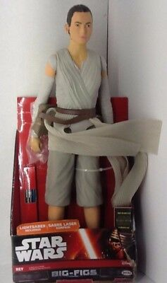 "STAR WARS ""REY"" BIG-FIGS with LIGHTSABER  18 inch by jakks New"