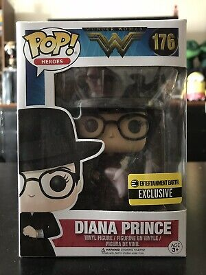 Funko Pop Wonder Woman Diana Prince With Sheild Entertainment Earth Exclusive