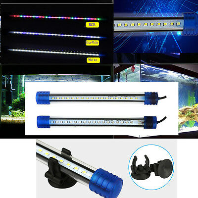 Under Water Fish Tank LED Light Bulb Tube Bar SMD RGB Aquarium Lighting Blue Red